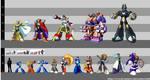 Mega Man: Mixed Height Chart by sesshowmall