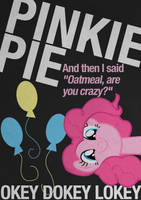 Pinkie Pie Typography Poster by Skeptic-Mousey