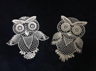 Crochet owls by tasamajamarina