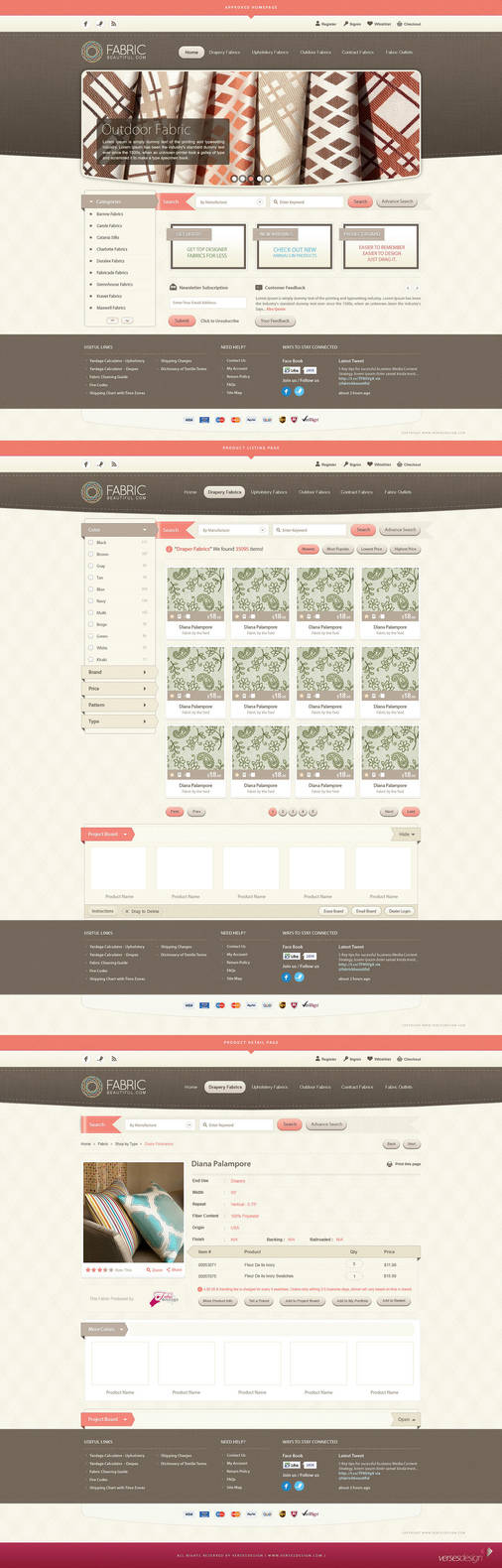 Fabric Beautiful Full Website by waseemarshad