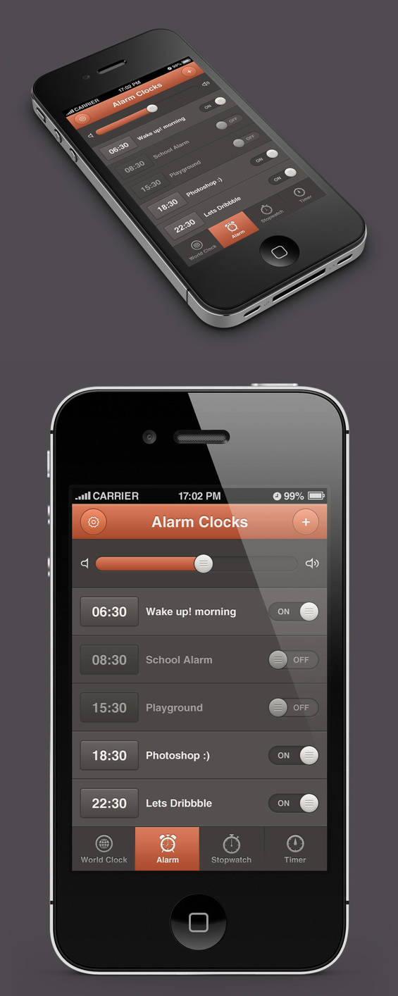 Alarm App Design by waseemarshad