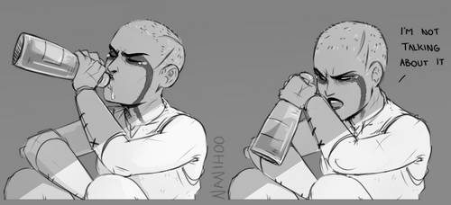 The bottle let me down by Nanihoo