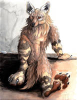 Brown Hyena by sebastiangreyfox