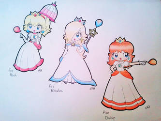 The 3 Fire Princesses! by Peach-X-Yoshi