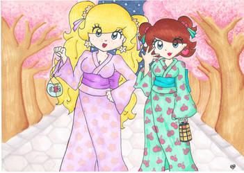 Festival at Sakura Island  by Peach-X-Yoshi