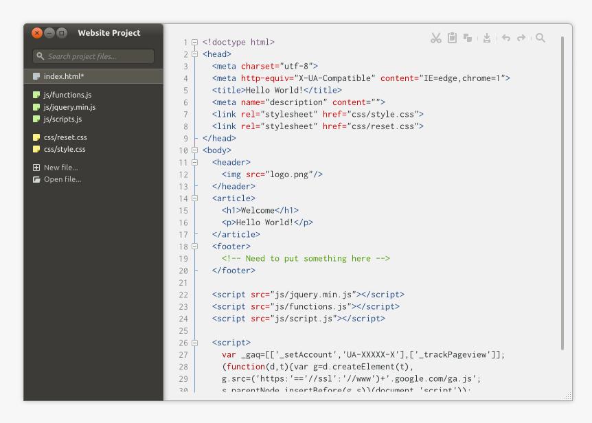 Ubuntu - Minimal Text Editor by and471