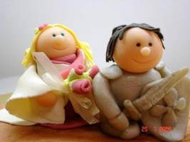 Wedding cake topper handmade by buttercreamfantasies