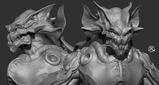 Monster Sculpture wip by Guesscui