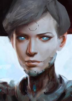 CyborgGirl Portrait by Guesscui