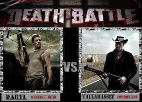 Death Battle: Daryl  v.s Tallahassee by MrLevelzGraffix
