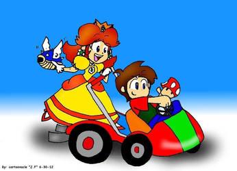 Daisy And Marioblade64 Double Dash By Cartoonacle by MarioBlade64