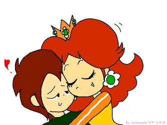 A Cuddle From Daisy By Cartoonacle by MarioBlade64