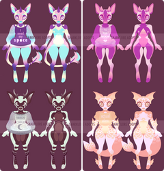 [2/4 OPEN, price drop] Space Deer Adopts! by Sharklore