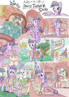 Jowybean's A Day in Equestria page 1 - colored by xHaZxMaTx