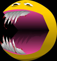 Vicious Pacman by Shittywall