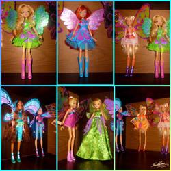 my winx dolls by Nicole-Ennet