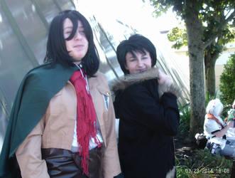 Mikasa and a Random person by sasukexnaruxsakura