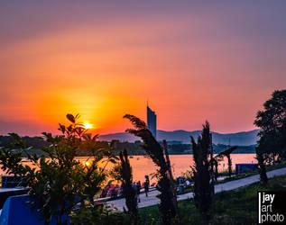 sunset at Danube by MCRfreak0815