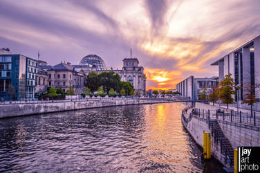 Sunset at Spree in Berlin by MCRfreak0815