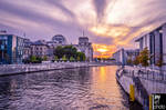 Sunset at Spree in Berlin by MCRfreak0815