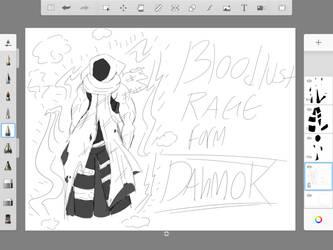 BloodLust Rage Dahmok WIP by xMoonlightMoonx