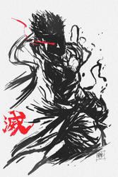 Evil Ryu by DarroldHansen