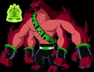 Biomnitrix Unleashed - Fourmungousaur by rizegreymon22