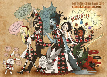 Suky-chan: Akatsuki Wonderland by Efaniel