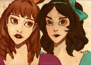 Drizella et Anastasia by Efaniel