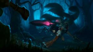 Ahri: Wild hunt by dgatrick