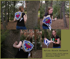 Zelda- Hylian shield backpack by Animus-Panthera
