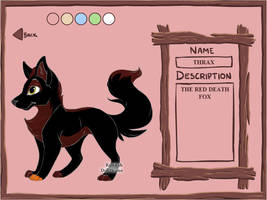 Thrax The Red Death Fox by Ellecia