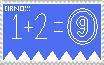 Cirno stamp by BLACKSTAR2475