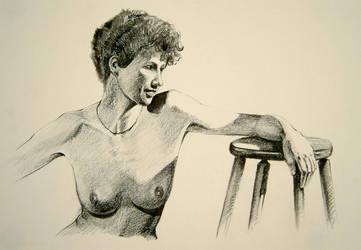 Sarah, ...soft pencil by Nudessence