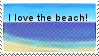 Beach Stamp by Pawkeet
