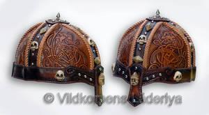 A Viking Leather Helmet by Vildkorpens-Laderlya