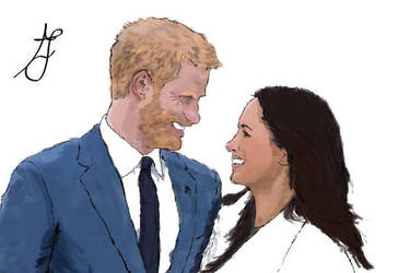Prince Harry and Meghan by jennywhite16
