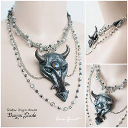 Dragon Shade - Shadow Dragon Amulet by Renilicious
