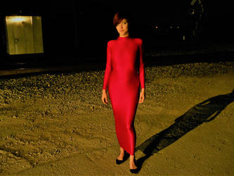 Red Hobbedress at Night by hngr2013