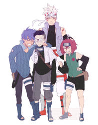 Commission # 20 - Naruto full team by WitchyNade