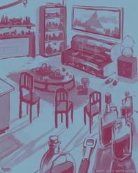 180802 Empty Seats Empty Bottles by kuoke