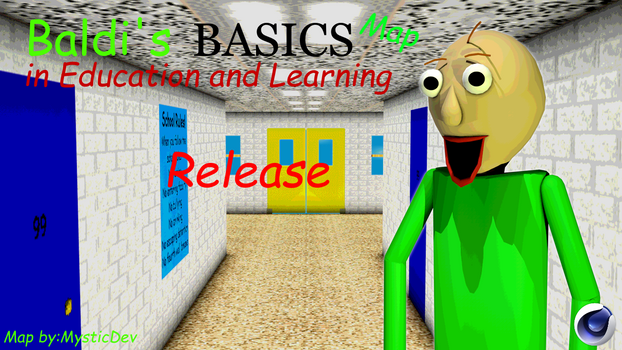 [C4D/BBIEAL] Baldi's Basics Map (Release) by DlandeAnimations