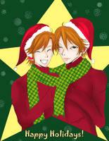 Happy Holidays from the Hitachiin by littlemissmarikit