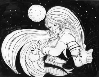 Space Warrior Inks only by littlemissmarikit
