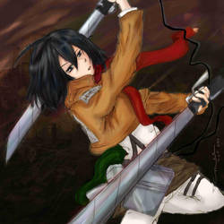 Fight On Mikasa by littlemissmarikit