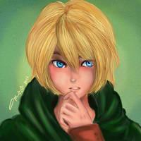 Armin Arlert Thinks. by littlemissmarikit