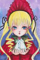 Rozen Maiden: Shinku and her Rosa Mystica by littlemissmarikit