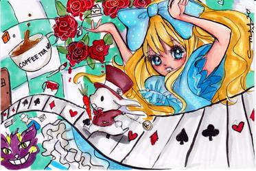 Alice in Wonderland by littlemissmarikit