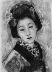 Geisha in Charcoal by littlemissmarikit