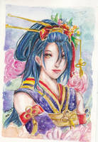 Touken Ranbu: Jiroutachi Painting by littlemissmarikit